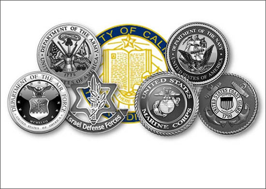 Rady Veterans Association logo - seals of branches of U.S. military
