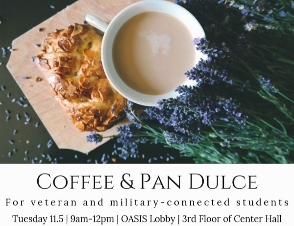 UCSD SVRC Coffee and Pan Dulce event, Tuesday, November 5, 2019, 9am to noon