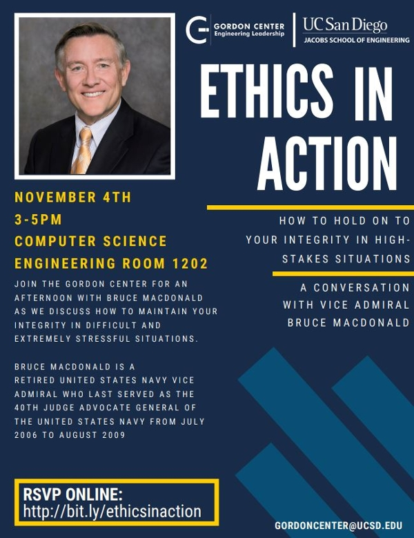UCSD SVRC Ethics in Action event, November 4, 2019, 3-5pm